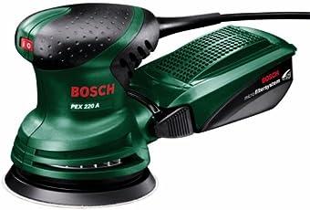 Bosch Exzenterschleifer PEX 220 A (mit Schleifblatt K 80, 220 Watt, in Karton)