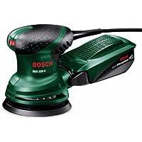 Bosch PEX 220 A  - Lijadora excéntrica  (220 W, Ø-plato lijador: 125 mm, Microfilter System, Excentricidad: 4 mm)