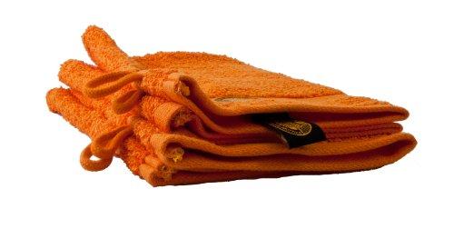 Gözze 550-0764-A1 - Manopla de baño (100% algodón, 550g/m², certificación Ökotex 100), color naranja