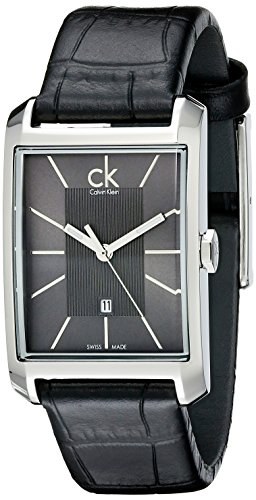 Calvin Klein K2M23107 - Reloj analógico de cuarzo para mujer con correa de piel, color negro