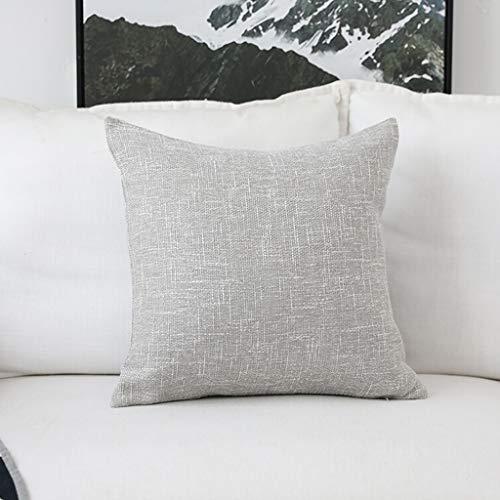 JIMI-I Einfarbig einfache Baumwolle Leinen Kissen Bett Kissen Sofa große Kissen Bett Kissen Rückenkissen Auto Kissen Plain Kissenbezug Stuhlkissen mit Kern grau (größe : 45 * 45cm) -