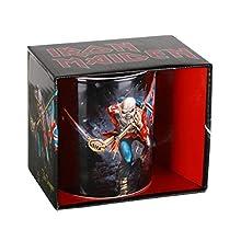 Unbekannt Iron Maiden 1012353710 Tazza da The Trooper, Acciaio Inossidabile, Bianco, 9 x 4 x 4 cm