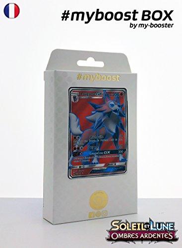 Coffret #myboost LOUGAROC GX FULL ART 136/147 - Soleil et Lune 3 Ombres Ardentes - 10 cartes Pokemon francaises