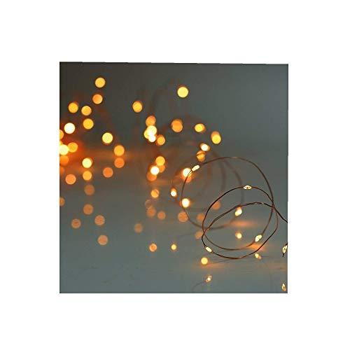 ODJOY-FAN 6 Stück 2m 20LED Dekoration Licht, Farbe Beleuchtung Zeichenfolge Batterie Sternenklar Kupfer Draht Dekor Lichter Dekorativ Licht String Lights (Gelb,6 PC)