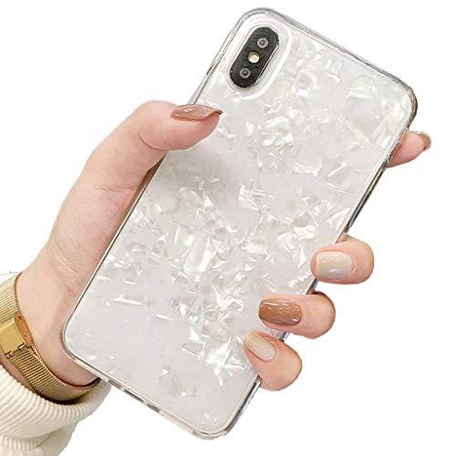 Bakicey iPhone XS Max Hülle iPhone XS Plus Handyhülle Bling Bling Shell Hülle iPhone XS Max Schutzhülle TPU Anti-Scratch Stoßfest Silikon Ultra Dünn Bumper case für iPhone XS Max Cover(B)