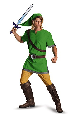 Kind Link Zelda Kostüm - Legend of Zelda Link Classic Adult Costume Large 42-46