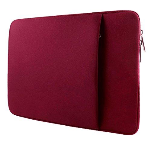Ivencase 13-13,3 Pollici Neoprene Custodia Borsa / Involucro Sleeve Case per Laptop / Notebook / Computer Portatile / Macbook Pro 13'' / Macbook Air 13''/ Macbook Pro retina display 13'' - IL vino rosso