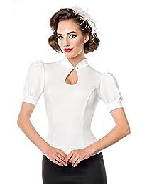 Belsira Jersey-Bluse Girl-Shirt hellblau