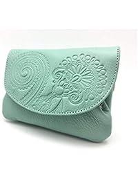 Cartera Portamonedas Monedero para Mujer Marca: Lugupell - Color Oceano (12,5 x