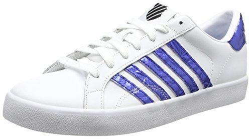 K-Swiss Damen Belmont So Sneaker, Weiß (White/Blue/Black), 39 EU