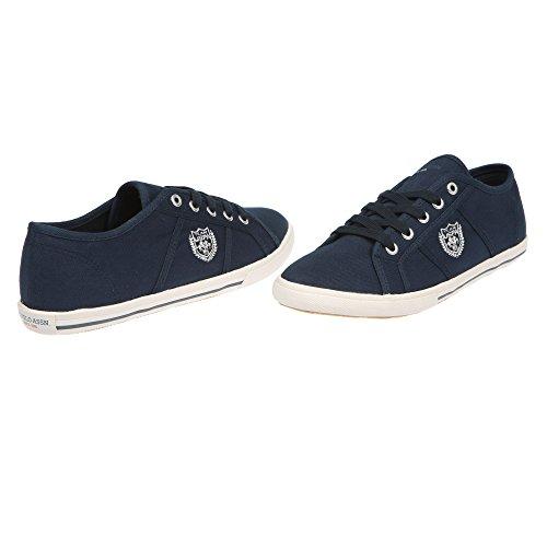 U.S. POLO Sneaker Chaussures femme avec lacets - mod. RUMBA4187S7-C1 bleu foncé