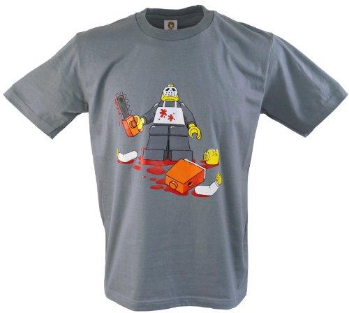 Fun T-Shirt `Robo Killer` / Spaß T-Shirts Grau