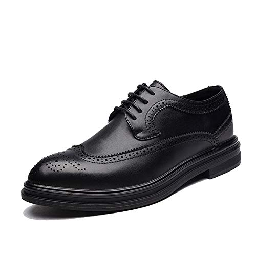 Best-choise Herren Business Oxford Casual Chic bequem und leicht Classic Prints Brogue Schuhe Blickfang (Color : Schwarz, Größe : 39 EU)