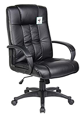 Tinxs Swivel Leather Executive Office Furnitue Computer Desk Office Chair - low-cost UK chair store.