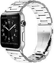 LS Compatible with Apple Watch Band 38/40mm, Stainless Compatible with Apple Watch Strap, Business Style Metal