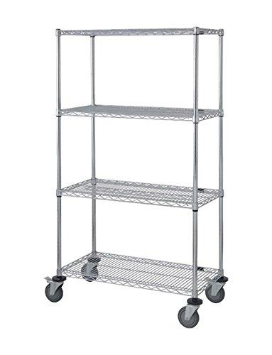 QUANTUM m1848C47chrom Mobile Cart, 45,7x 121,9x 203,2cm (Blau Utility Shelf)