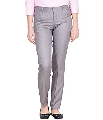 Tiger Grid Grey Official Trouser for Women's (28)