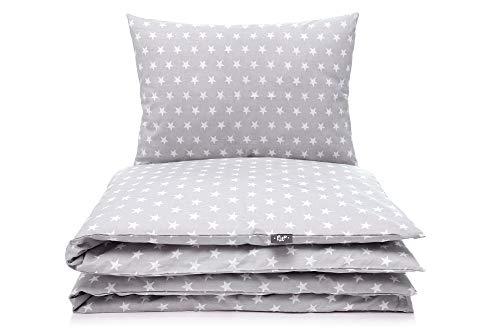 Kinderbettwäsche Set Baby Bettwäsche Bettbezug 100 x 135, fur Baby und Kinder, 100% Baumwolle Hergestellt in Europa (Sterne) (Günstige Kleinkind-bett Für Mädchen)