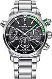 Maurice Lacroix Pontos S Diver cronógrafo para hombre relojes–44mm Negro Dial banda de acero inoxidable Swiss reloj de buceo automático para hombre PT6018-SS002–331–1