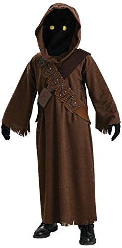 Jawa Kids Fancy Dress Star Wars Scifi Halloween Movie Kids Childs Costume Outfit