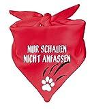 KLEINER FRATZ Hunde Dreiecks Halstuch (Fb: rot) (Gr. 1 (55 cm)) Nur schauen Nicht anfassen