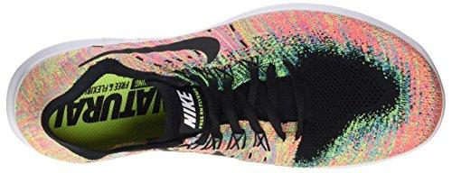 Nike Free RN Flyknit 2017, Scarpe da Corsa Uomo Multicolore (Black/black-blue Lagoon-hot Punch-volt)