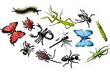 Miniblings 12x Insekten Figuren Aufstellfiguren Tierfiguren Gummitiere Tier