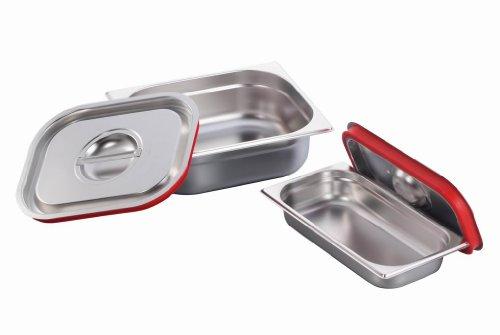 GN Behälter Gastronorm 1/2 Edelstahl Silikon Deckel