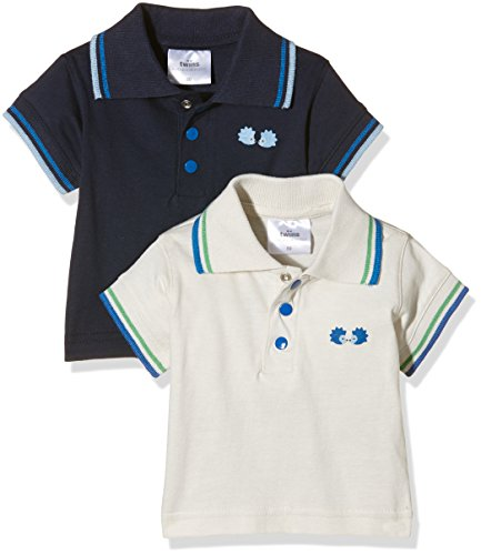 Twins Baby - Jungen Poloshirt im 2er Pack, Mehrfarbig (Mehrfarbig 5023), 74