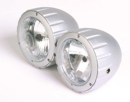 Preisvergleich Produktbild Doppelscheinwerfer Arizona silber, H4+H7, E-gepr.