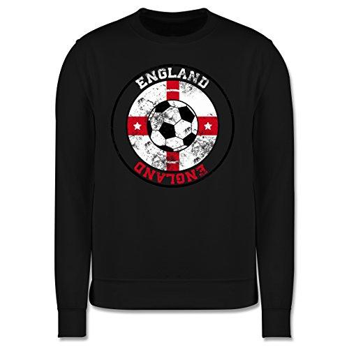 EM 2016 - Frankreich - England Kreis & Fußball Vintage - Herren Premium Pullover Schwarz