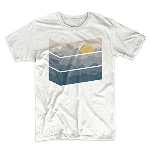 Mountain Shape Mountains Traveling Hiking Herren T-Shirt Weiß