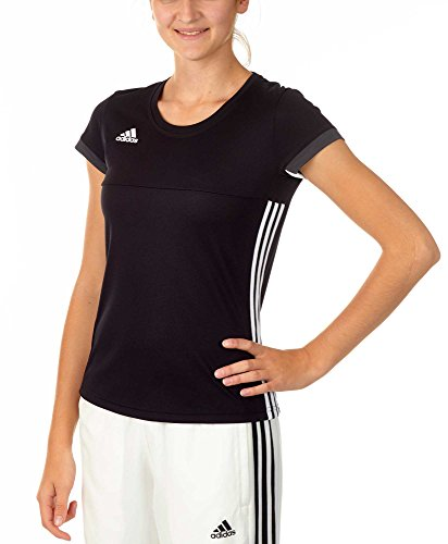 Adidas t-shirt da donna t16 team tee w, black/white, s, aj5301