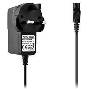 Aukru 15V 0.5A 3 Pin Power Supply Wall Charger with 1.5m Cable for Philips Shaver HQ-Serie HQ8505, HQ8, HQ9, HQ56, HQ8445, HQ8825, HQ8830, HQ8835