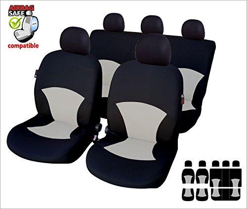 Coprisedili universali in carbonio nero per Suzuki Samurai Un set di sedili anteriori 2 pezzi