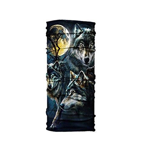 WOLF, Keative Kühle Breathable Outdoor-Sonnenschutzgesichtsmaske (Maske Uk Halloween Wolf)