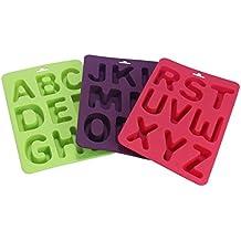 Molde para tartas, Clode® 3pcs/set de letras de silicona hecho a mano