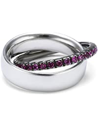 Esprit Jewels Damen-Ring Brillanz verbinden rosa 925 Sterling Silber