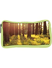 Snoogg Eco Friendly Canvas Forest Grass Designer Student Pen Pencil Case Coin Purse Pouch Cosmetic Makeup Bag - B0774V98Q5