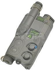 Tactical Airsoft an/peq16carcasa de batería Follaje Verde FG Dummy AEG con soporte de Ris