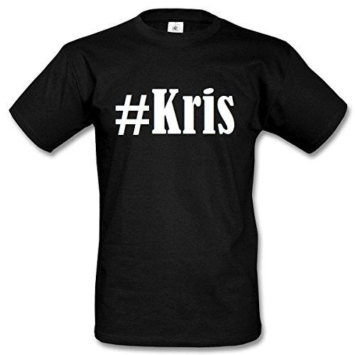 T-Shirt #Kris Hashtag Raute für Damen Herren und Kinder ... in den Farben Schwarz und Weiss Schwarz