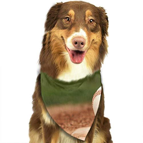 Osmykqe Hundebandana-Haustier-Schal-Baseball-Klassiker niedlicher Haustier-Hündchen-Bandana-Schal-Lätzchen -