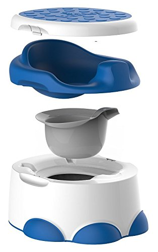 Bumbo BMB501 Step'n Potty Multifunzione: Vasino, Riduttore Wc e Pedana, Blu - Blu Potty