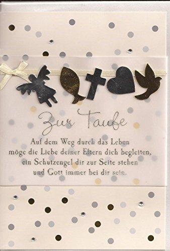 Glückwunschkarte Klappkarte Zur Taufe Zur Taufe - 012B