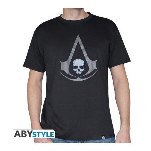 ABYstyle abystyleabytex255-m Abysse Assassin 'S Creed Crest AC4gris de manga corta Hombre Camiseta (medio)