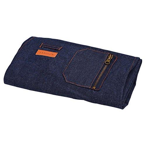 Fdit Langlebig Denim Tuch Schürze für Home Küche Garten-Backen Restaurant Kellnerin Uniform M -
