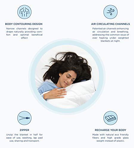 SOMNOS Therapiebettdecke Gewichtsdecke, Schwere Decke für Erwachsene für besseren Schlaf Grösse - 135 x 200 cm, 9 Kg. - 8