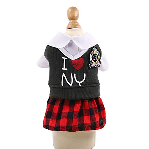 WWDDVH Hunde-Kostüm für Paare, für kleine Hunde, Chihuahua, Yorkshire-Kleider, Strampelanzug, für - Warme Kostüm Für Paare
