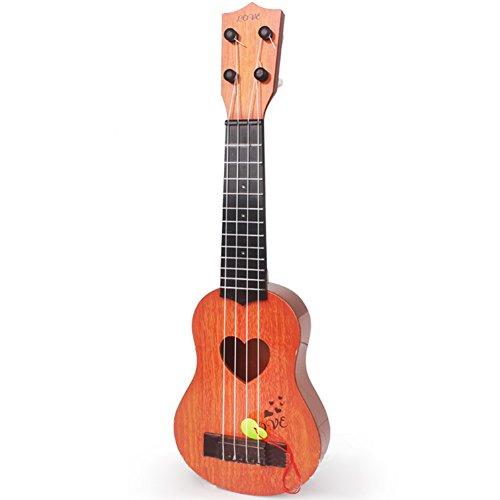 Zantec Gitarre pädagogische Musik Instrumente Spielzeug Geschenke für Anfänger4 Saiten Kinder Simulation spielbare Ukulele