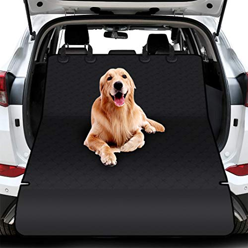 Dioxide telo auto per cani tessuto oxford impermeabile antipolvere tappetini per bagagliaio protezione universale posteriore bagagliaio fodera per animali nero